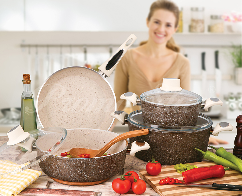 Granite Cooking Pot Set – 9 Pieces