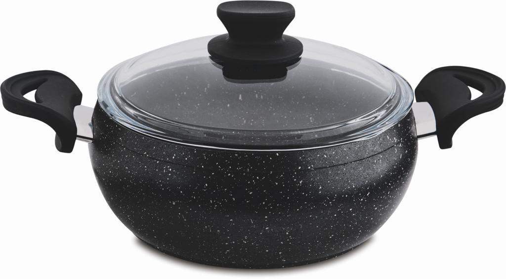 24 cm Granite Deep Cooking Pot